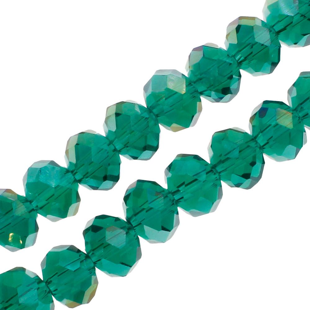 Crystal Rondelle 6x8mm - Teal AB
