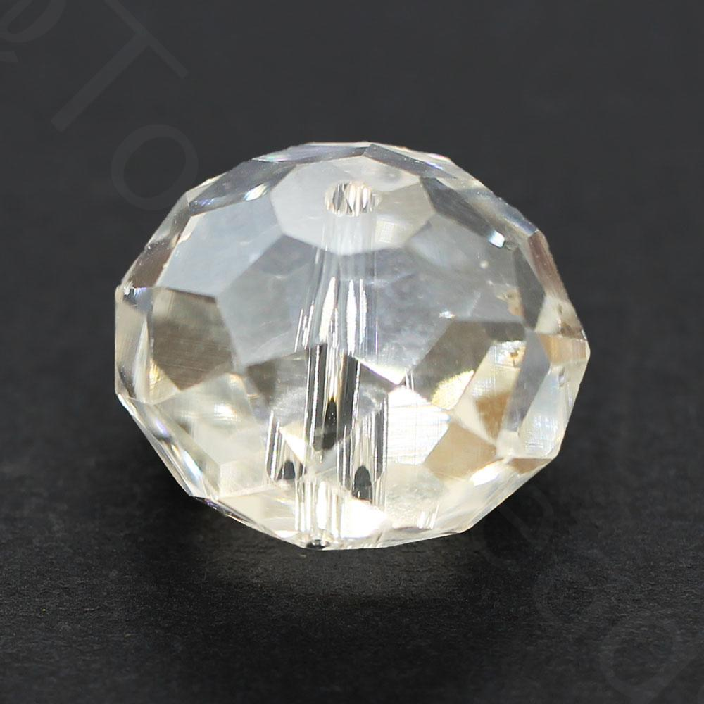 Crystal Rondelle 14x18mm - Clear 1pc
