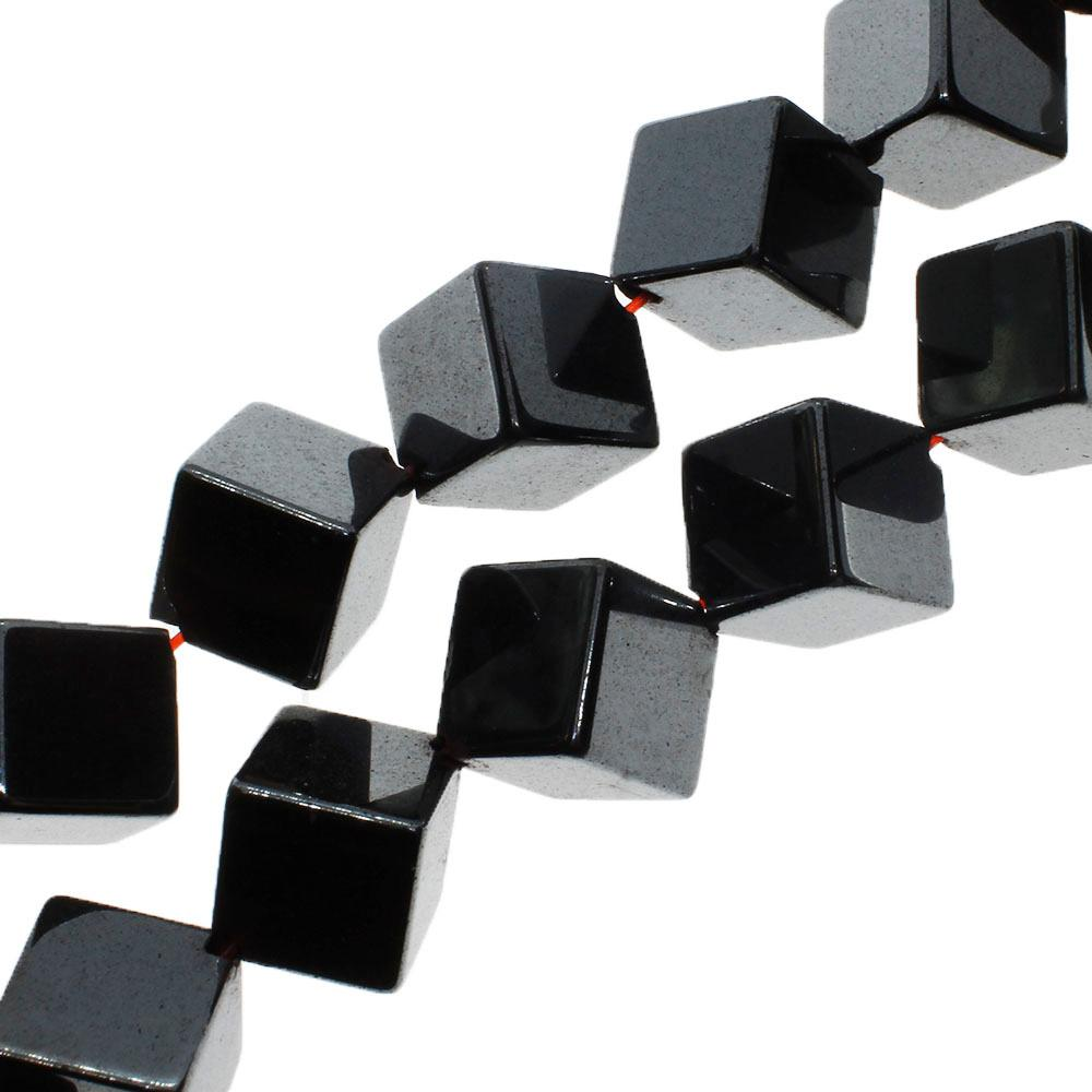 Hematite - Diagonal Cube - 8mm