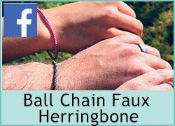 Ball Chain faux Herringbone - 27th May