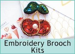 Embroidery Brooch Kits