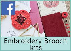 Embroidery Brooch kits - 21st October