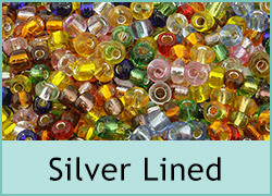 Silver Lined Seed Beads