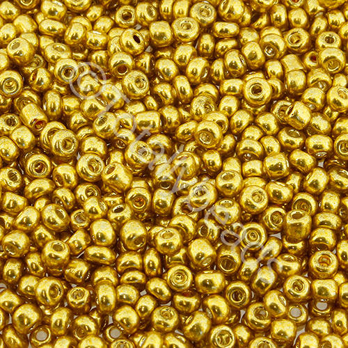 Seed Beads Metallic  Gold - Size 8