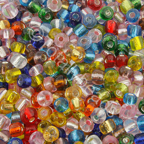 Seed Beads Silver Lined  Mixed - Size 6
