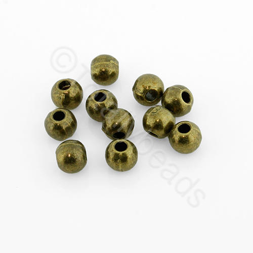 Tibetan Bronze Bead - Round 4mm