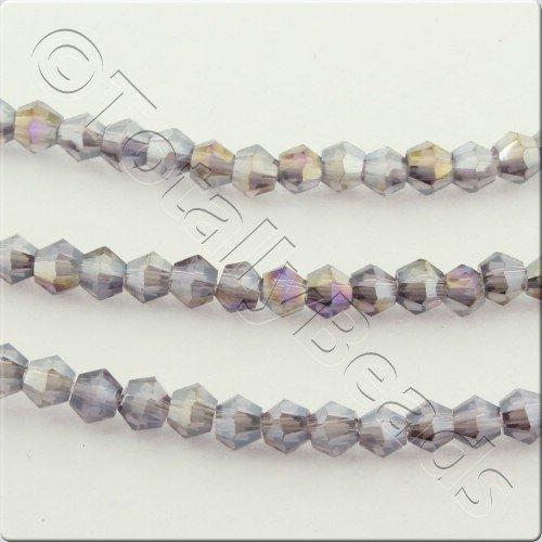 Crystal Bicone 2.5mm - Purple AB