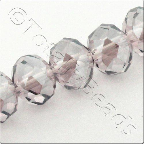 "Crystal Rondelle 6x8mm - Violet 16"" String"
