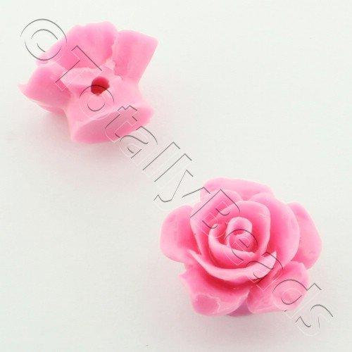 Acrylic Rose 15mm 1 Row - Sugar Pink 4pcs