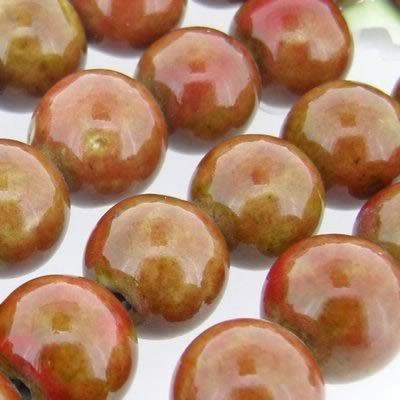 Ceramic Beads - Round 15mm - Terracotta