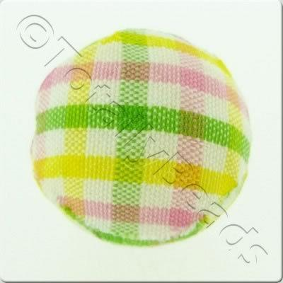 Chequered Cloth Bead 20mm - C4