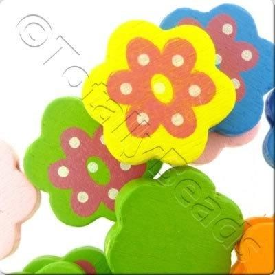 Childrens Wooden Bead - Large Flower