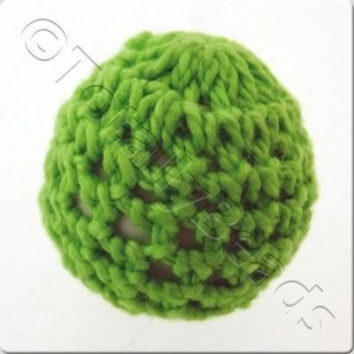 Crochet Bead 22mm - Lime Green