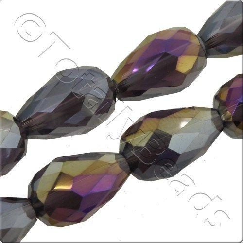 Crystal Drop 10x15mm - Purple Rainbow