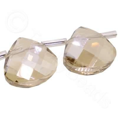 Crystal Flat Drop 10mm - Champagne