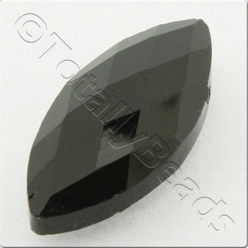 Crystal Eye Bead 25mm - Jet Black