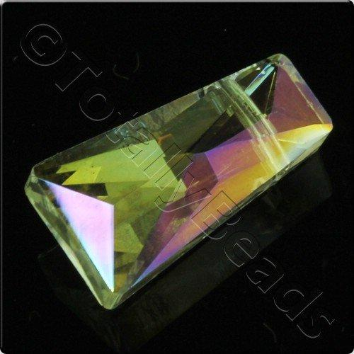 Crystal Rectangle Drop Bead 20mm - Lemon