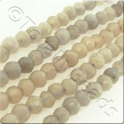 Grey Dyed Stone 3mm Faceted Round
