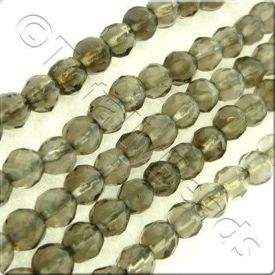 Smoky Quartz 3mm Facet Round