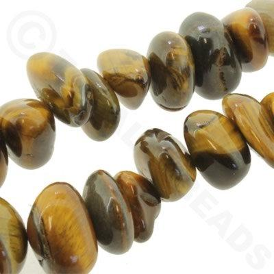"Gemstone Nuggets - Tiger Eye 16"" String"