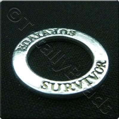 Tibetan Silver Message Ring - Survivor