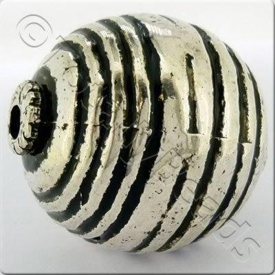 Acrylic Antique Silver Bead - Round 34mm