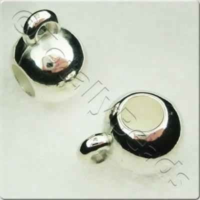 Acrylic Silver Bead - 10mm Large Hole Hanging Bead
