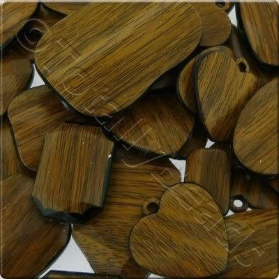 Acrylic Wood Effect Beads Mix