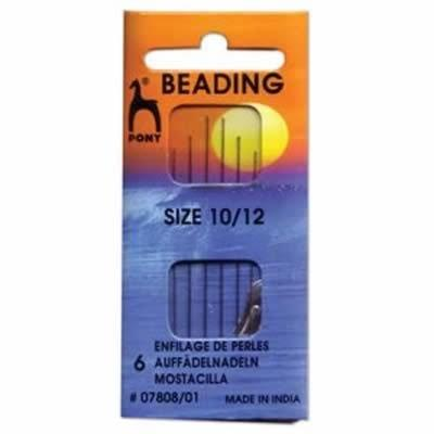 Pony Beading Needles - Assorted 10 & 12