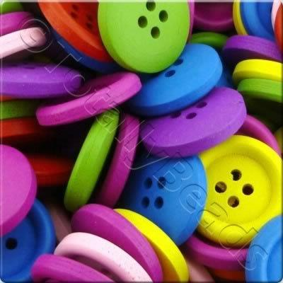 Childrens Wooden Buttons - 20mm