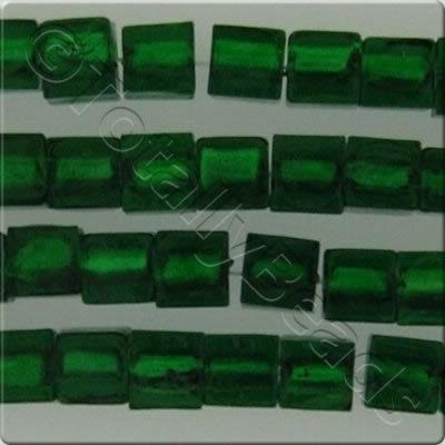 Silver Foil Cubes - 10mm - Dark Green