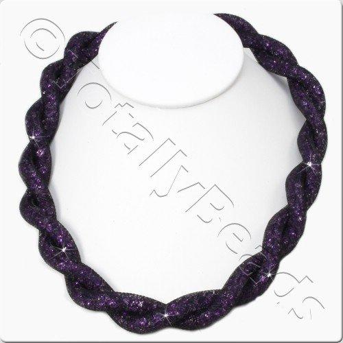Sparkle Mesh Necklace Kit - Purple