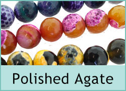 Polished Agate Beads