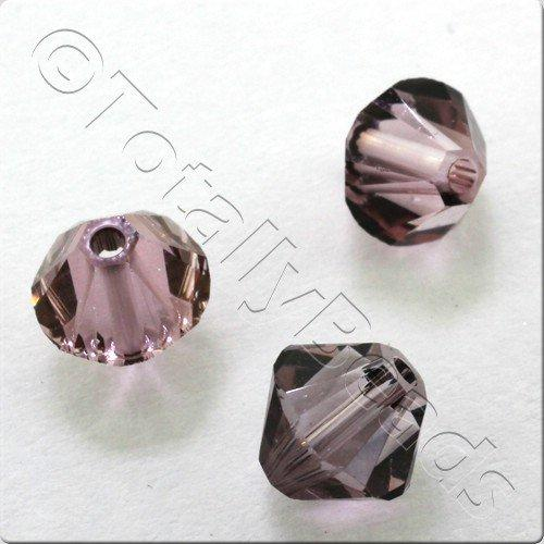 Swarovski 6mm Xilion Bicone - Antique Pink pk18