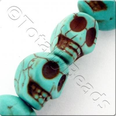 Synthetic Turquoise Skulls 12mm Turquoise