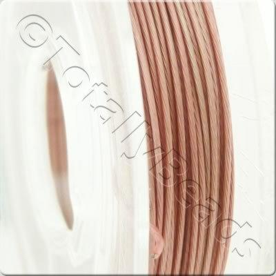 Tigertail Wire 0.45mm - Metallic Rose - 10m