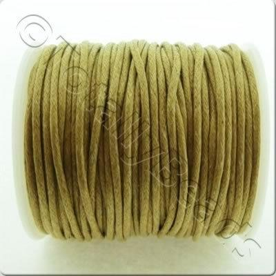 Wax Cotton Cord 1.5mm - Coffee