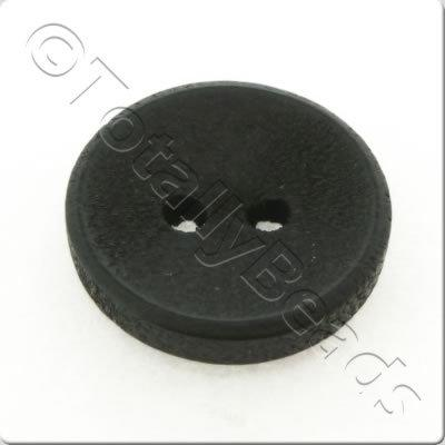 Concave Wooded Button 15mm - Black