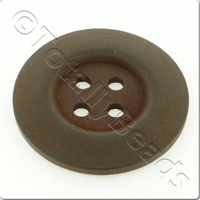 Wooden Button 50mm - Dark Brown