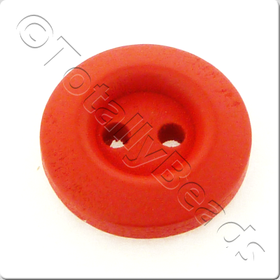 Wooden Button 15mm - Red