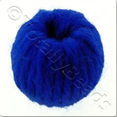 Wool Bead 22mm - Blue