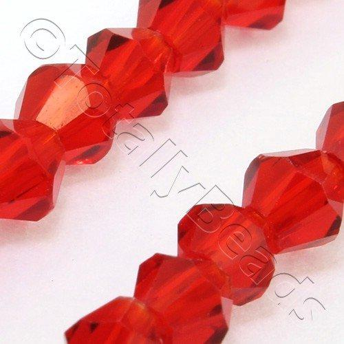 Crystal Bicone 6mm - Cherry Red