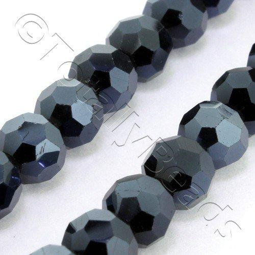 Crystal Round 6mm - Hematite Plate 90pcs