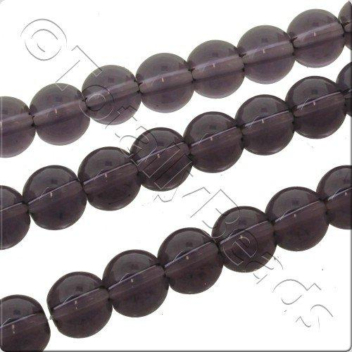 Smooth 8mm Round Crystal Beads - Purple