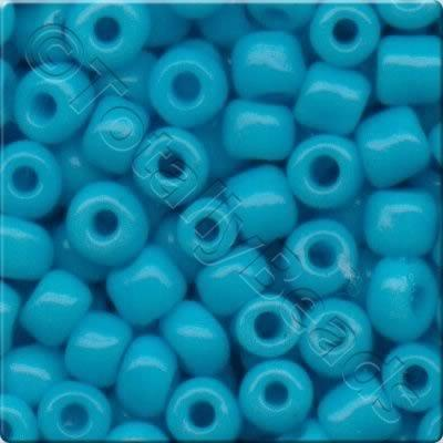 Seed Beads Opaque Rainbow  Turquoise - Size 8