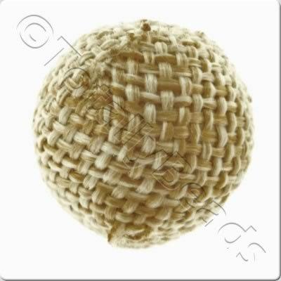 Weaved Hatch Bead - Cream