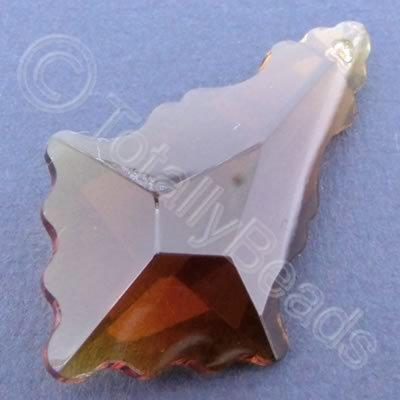Glass Pendant Arrow Amber - 50mm