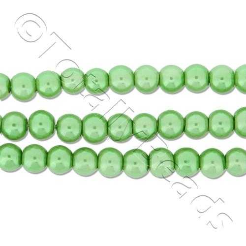 Glass Pearl Round Beads 4mm - Fresh Green