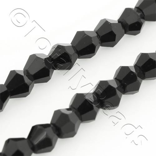 Crystal Bicone 4mm - Jet Black