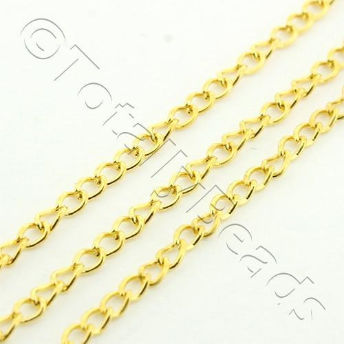 Chain Gold Plated - Oval Twist 1.5x2mm
